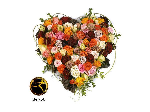 Blomsterhjerte 5 - dekoration