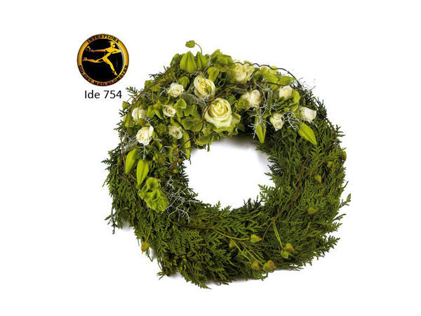 Bårekrans 5 - med årstidens blomster