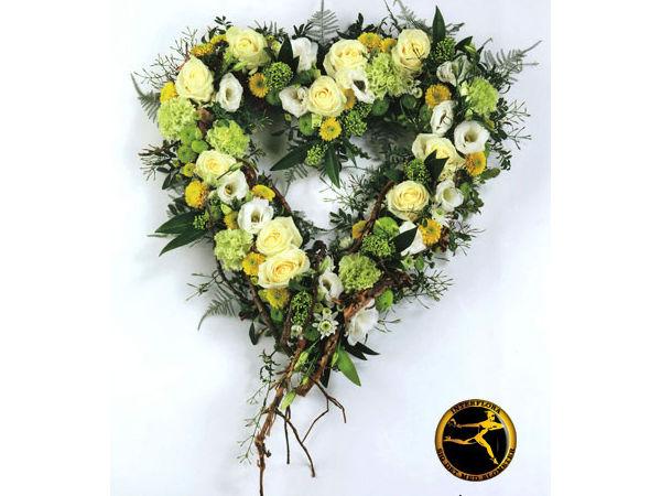Blomsterhjerte 6 - dekoration