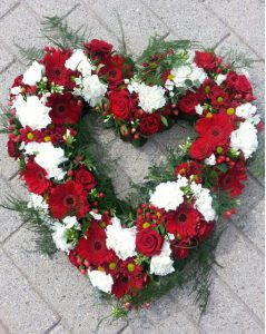 Rød-hvid hjerte - hul
