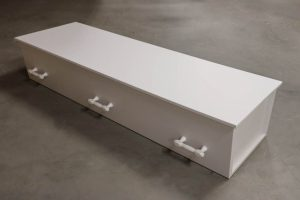 Papirkiste til begravelse eller bisættelse